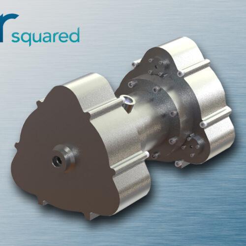 Concept Rendering of Integrated Compressor-Expander for Zero-Gravity Vapor Compression Refrigeration (ZVCR)