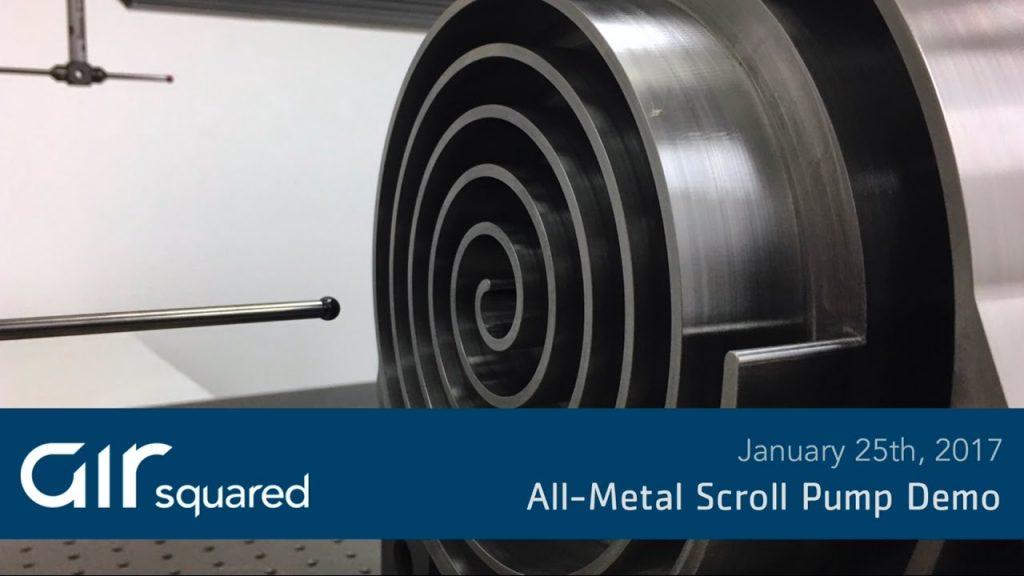 All Metal Oil Free Scroll Pump Demo Video