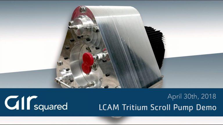 Liquid Cooled All Metal Tritium Scroll Vacuum Pump Demo Video