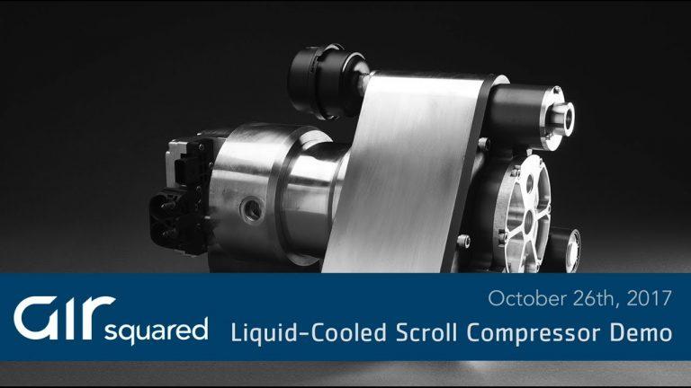 Liquid Cooled Scroll Compressor Demo Video